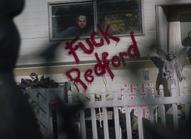 Fuck Redford grafitti on trailer in Nixonville