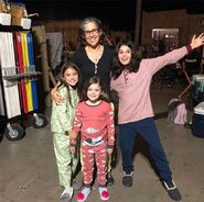 Dylan Schombing, Lily Rose Smith and Adelynn Spoon with Nicole BTS S1 E 9
