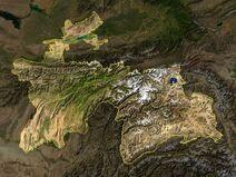Tajikistan satellite photo