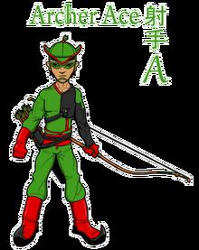 Archer Ace - sticker