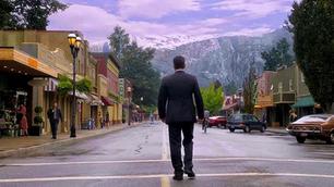 Ethan walking down Main Street