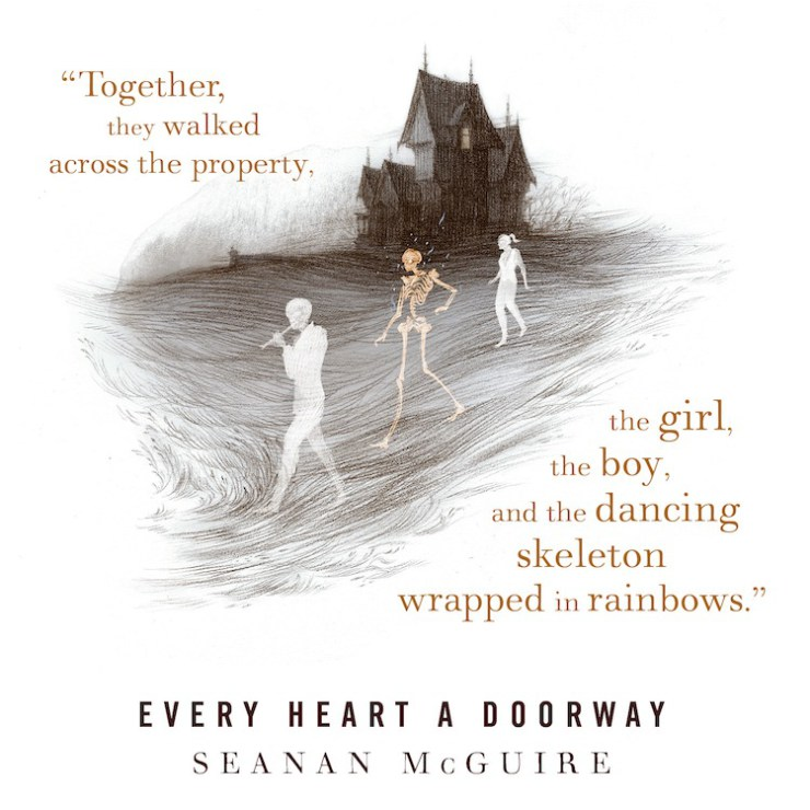 Image result for the boy the girl and the dancing skeleton every heart a doorway