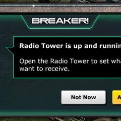 Message - Radio Tower Up & Running