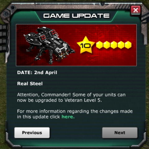 Game Update: Apr 2nd, 2014 - Veteran Level 5