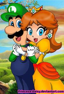 Luigi and daisy happy couple by princesa daisy-d3l81z0