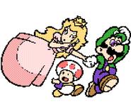 Mario & Daisy - Super Mario Bros. Print World
