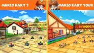 Daisy Hills Mario Kart 7 Mario Kart Tour COMPARISON