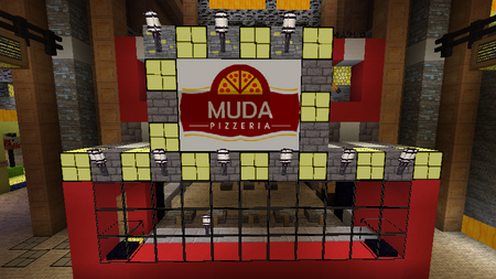 Muda Pizzeria Closeup view