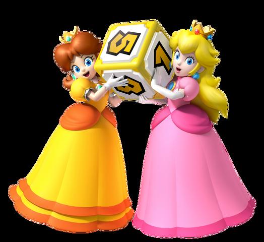 File:Peach & Daisy MPA Artwork.png
