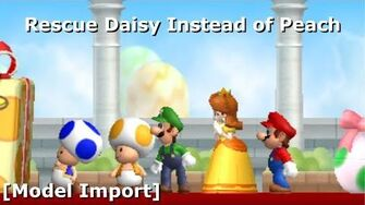 Rescue Daisy Instead of Peach in NSMBW Model Import ( Download) (11