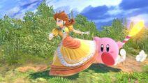 Kirby runs with Daisy