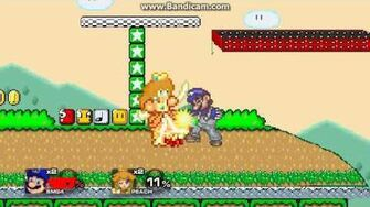 SSF2 Mod Battle SMG4 (over Mario) vs Daisy (over Peach)