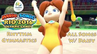 Mario & Sonic at the Rio 2016 Olympic Games Rhythm Gymnastics (All Songs w Daisy)