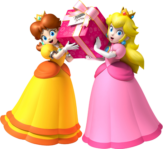 File:Peach and Daisy Present For You.png
