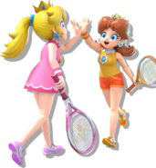 Peach & Daisy Tennis Aces
