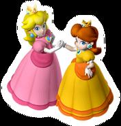 Brawl Sticker Peach & Daisy (Mario Party 7)