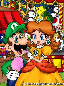 Luigi and daisy night festival by princesa daisy-d51tq1o