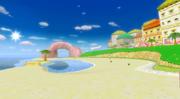 Peach Beach in MKWii