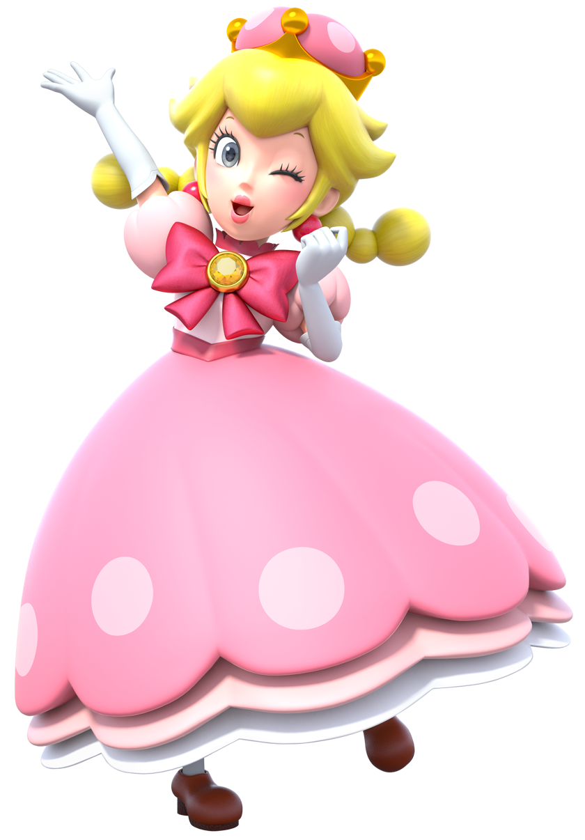 Peachette is a transformation for toadette in new super mario bros u deluxe in this form toadette is turned into a peach look alike and gains her floating