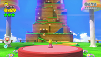 Small Peach Back Super Mario 3D World