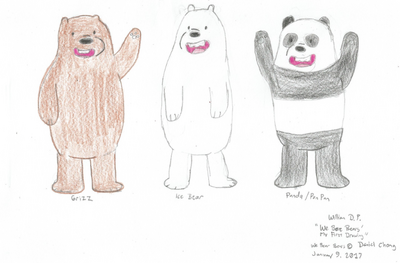 We Bare Bears (First Drawing)