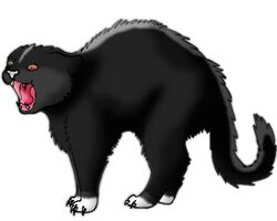 Dark forest hissing cat for collab by mspugluver-d57h8cp