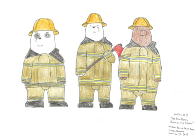 We Bare Bears as Fire Fighters