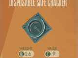Disposable Safe Cracker