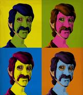 Andy Warhol-Inspired Nick Lightbearer Painting