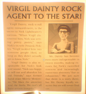 Virgil Danity Rock Agent To The Star! Article