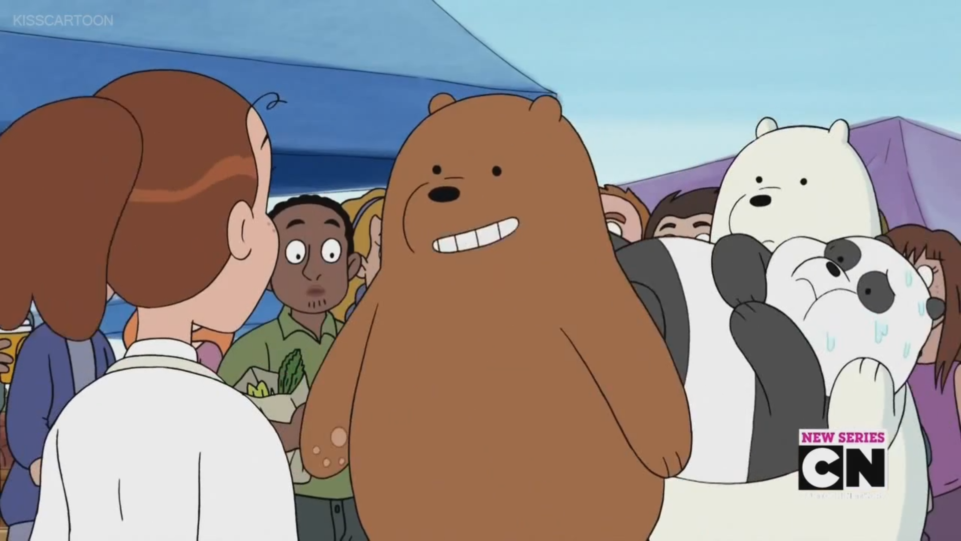 Lucy We Bare Bears Wiki FANDOM Powered By Wikia - This bear is rolling down a hill is having the time of his life