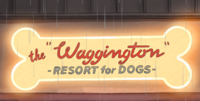 The Waggington Outside Sign