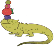 Balancing Lizard