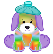 Tie Dye Puppy Unhealthy