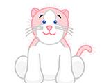 Pink & White Cat