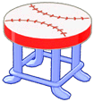 Baseball Stool (Curio Shop)
