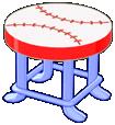 Baseball Stool (Curio Shop)