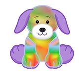 Tie Dyed Puppy