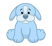Aquamarine Puppy