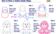 How to Draw a Cotton Candy Sheep