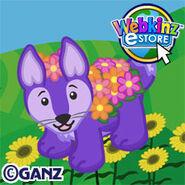 Preview purple floral fox