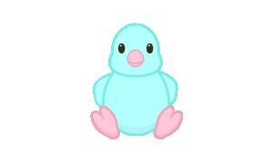 Blue Springtime Chick