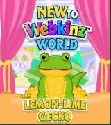 New to Webkinz World Lemon Lime Gecko