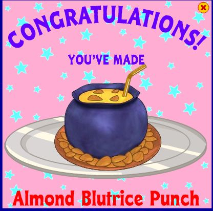 Almond blutrice punch