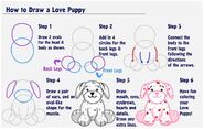 How to Draw a Love Puppy