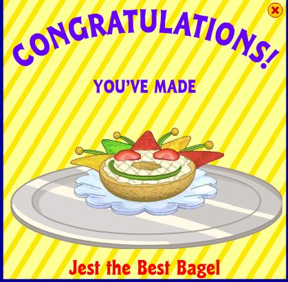 Jest the best bagel webkinz wiki fandom powered by wikia jest the best bagel is a recipe that uses a bagel pickles and tacos feeding this item to your pet increases their hunger by 36 forumfinder Choice Image