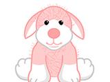 Pink & White Dog