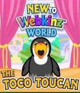 New to Webkinz World Toco Toucan