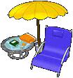 Poolside Sunning Chair