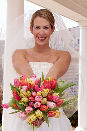 Denver Florists, spring wedding bouquet, colorful